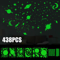 438pcs Glow In The Dark Luminous Starry Sky Stars Moon Planet Space Wall Sticker