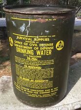 Office of Civil Defense - Dept of Defense Survival Supplies Drinking Water Drum