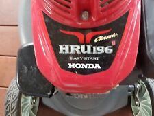 HONDA HRU 196 MOWER Classic easy start. Mow & Mulch lawn mower.