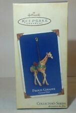 "2005 Hallmark Ornament Carousel Ride ""Proud Giraffe"" Very Hard to find New"