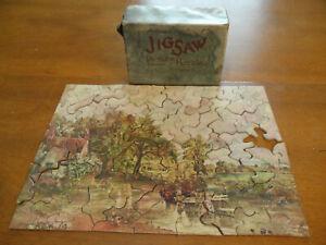 Vintage Picture Prints Jig-Saw Puzzle 100 Pc Incomplete Country Cottage Unique