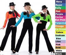 Trouble Dance Costume Jumpsuit Team Baton Cheerleader Tap Clearnce Child & Adult