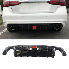 Rear Diffuser For 2018 - 2020 Infiniti Q50 Painted Bumper Lip Wing Gloss Black