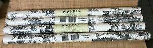 Waverly Country Life Black Toile Wallpaper 4 New Double Rolls 564303