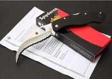 New Spyderco C12GS Messer voll gezahnt G-10 Folding Liner Lock Camping-Messer