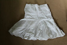 New Look Ladies White Cotton lined Skirt size 12
