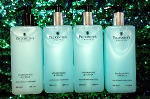 4 - Lot Pecksniff's SANDALWOOD & VANILLA Moisturizing Hand Wash 16.9 oz each