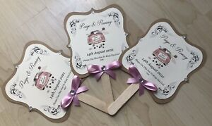 10x Personalised Hand Fans, Wedding Fans, Wedding Favours, Wedding Gifts, Fans