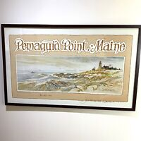 Don Getz Hand Signed Print Light At The Point Pemaquid Point Maine 9774