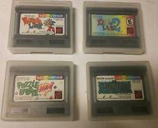 4 Neo Geo Pocket Color Games in SNK Cases Dark Arms ,Puzzle link 1 & 2, Bobble