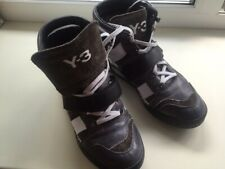 Yohji Yamamoto All Leather High Tops Sneakers Boots With Suede Size 39