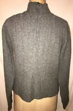617552d7 Abercrombie Muscle Lambs Wool Mock Turtle Neck 1/4 Zip Gray Mens Large  Sweater