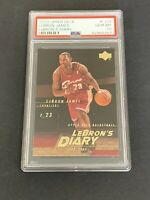 2003 Upper Deck LeBron James LeBron's Diary #13 ROOKIE CARD RC PSA 10 GEM MINT