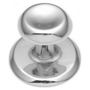 Polished Chrome Hickory-Belwith K64-CH Metropolis Cabinet Knob & Backplate