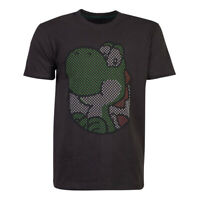 NEW! Nintendo Super Mario Bros. Yoshi Rubber Print T-Shirt Male Xxl Black TS7716