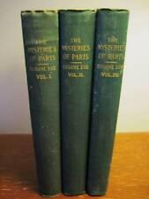 THE MYSTERIES OF PARIS Eugene Sue RARE 3V Set CLASSIC
