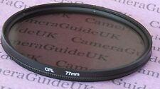 Filtro Polarizador 77mm CPL para Panasonic, Sigma, Samsung, FujiFilm, Nikon, Sony Lente