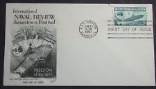 1957 FIRST DAY OF ISSUE INTERNATIONAL NAVAL REVIEW & JAMESTOWN FESTIVAL SC #1091