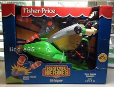 Rescue Heroes 1999 Gil Gripper Wave Rescue Specialist New Fisher Price Toy NIB