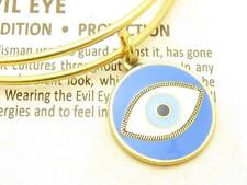 Wind and Fire Evil Eye Gold Wire Bangle Stackable Expandable Bracelet Gift