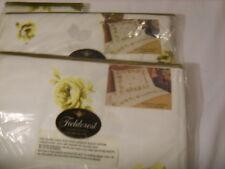 """VINTAGE FIELDCREST Full Size (54x75"""" mattress) 4 Piece Sheet Set QUEEN'S GARDEN"""