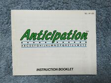 Anticipation manual only - no game .... NES Nintendo