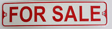 "Metal Street Sign Embossed ""For Sale"" Home and Room Decor 3"" x 11.5"""