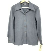 Size 12 Alfred Dunner Women's Button Front Blazer Jacket Gray C027