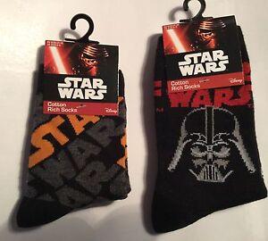 Boys Black Socks with Star Wars and Darth Vader detail