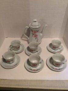 Vintage Mitterteich Bavaria W. Germany Tea Set For 6 Tea Pot