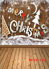 Christmas Vinyl Photography Backdrop Background Studio Photo Props 5X7FT WSD124