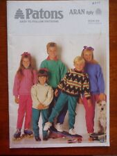 PATONS KIDS KNITTING PATTERN BOOK #805 - CHILDRENS JUMPERS - 8 PLY