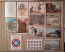 13 carte postale1789 1989 bicentenaire Révolution française dont 2 adhesives