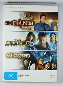 Night At The Museum / The Seeker / Eragon DVD FREE POST