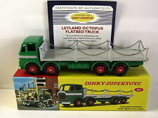 ATLAS DINKY SUPERTOYS LEYLAND OCTOPUS FLAT TRUCK WITH CHAINS 935 MODEL TRUCK