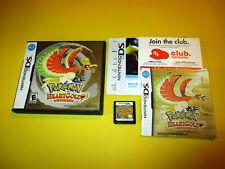 Pokemon Heartgold Version Nintendo DS Lite DSi XL 3DS 2DS w/Case, Manual Inserts