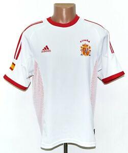 SPAIN NATIONAL TEAM 2002/2004 AWAY FOOTBALL SHIRT JERSEY ADIDAS SIZE L ADULT