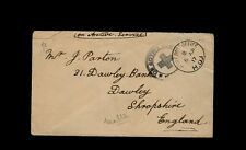 """ARMY POST OFFICE H. D."" & ""6 AP 17"" at MALTA to Dawley, Shropshire, England"