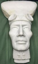 Male Bust Indian Brave Art Craft Project Ceramic Bisque Wall Hanging Paintable