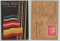 Germany 🇩🇪 1947 Baltic DP post card Augsburg DP Camp Hochfeld  f7673