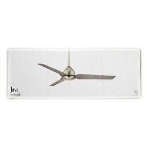 """MINKA-AIRE F753-WHF JAVA OUTDOOR 54"""" CEILING FAN, REMOTE, 4-BLADE, FLAT WHITE"""