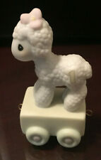 "Precious Moments Birthday Train Piece ""Happy Birthday Little Lamb"" Age 1"