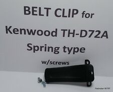 KENWOOD TH-D72A belt clip, spring type with screws, Belt hook, TH-D72A/E