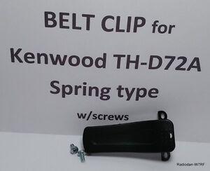 KENWOOD TH-D72A belt clip spring type with screws Belt hook TH-D72A/E 100+ sold!