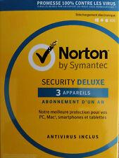 Activation pour 1 an - Symantec Norton Security Deluxe 2018 pour 3 appareils