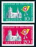 SCHWEIZ, MiNr. 611-612, Einzelmarken aus Block 15, tadellos postfrisch, Mi. 80,-