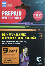 %7c 0160 950 24 1.2.3 %7c VIP Telekom congstar Wunschmix prepaid Handynummer SIM