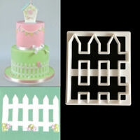 1pc Cupcake Fence Plastic Fondant Cutter Cake Mold Fondant Decorating Tools New