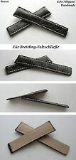 -ALLIGATOR Faltschließenuhrband 24-20mm kompatibel nur mit Breitlingfaltschließe