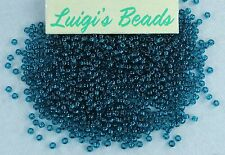 11/0 Round Toho Japanese Glass Seed Beads #7Bd-Transparent Capri Blue 15 grams